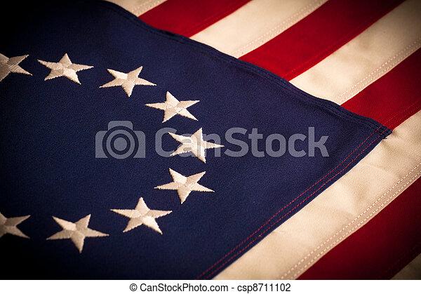 Betsy Ross - 13 star American Flag - csp8711102