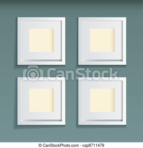 Picture frame green background - csp8711479
