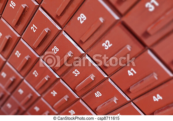 Individual numbered cells - csp8711615
