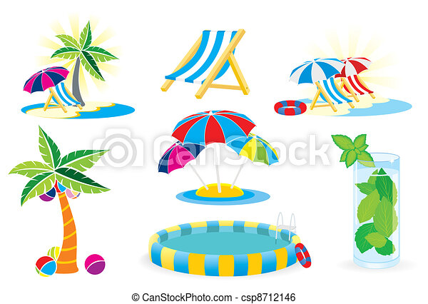 set of summer pictures - csp8712146