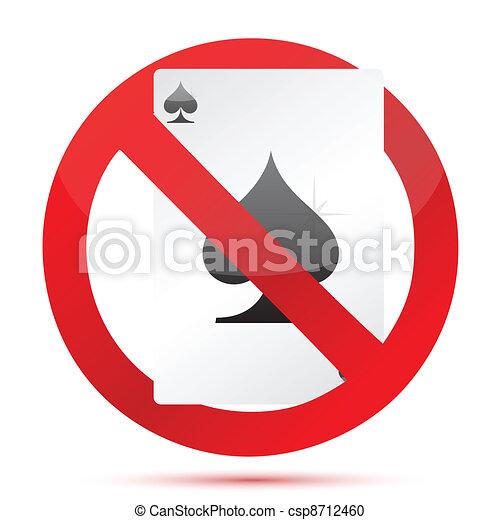 no gambling sign illustration - csp8712460