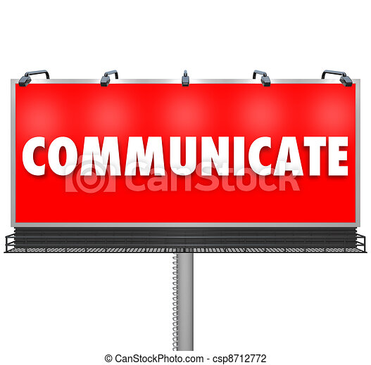 Communicate Word Large Billboard Share Information - csp8712772