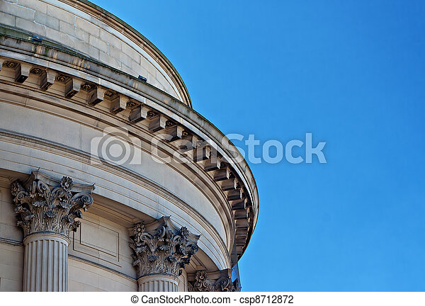 Ornate sandstone columns on government building - csp8712872