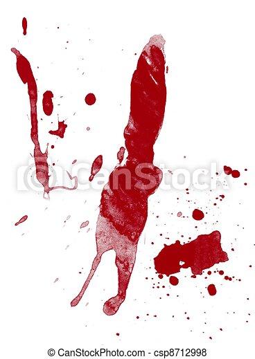Blood splatter on white - csp8712998