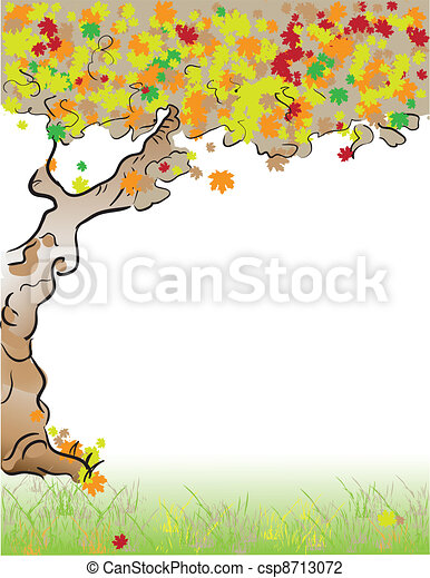 Format Letter Tree fall - csp8713072