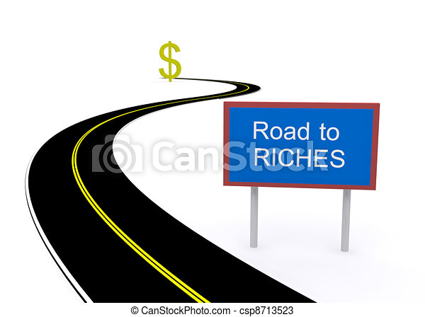 road to riches - csp8713523