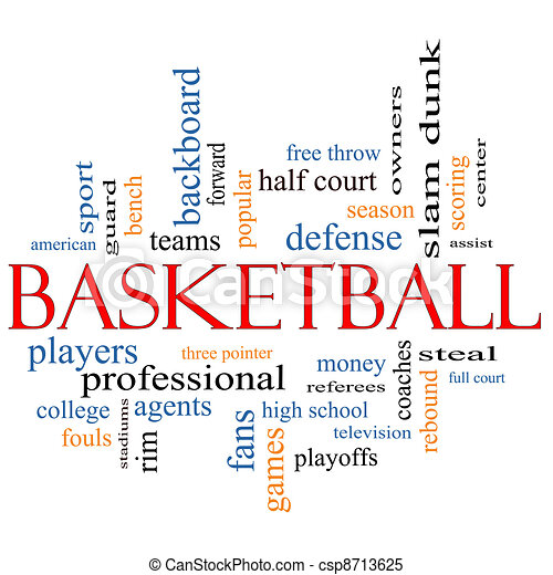 Basketball Word Cloud Concept - csp8713625
