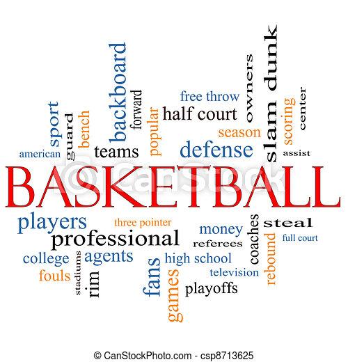 Basketball Word Cloud Concept - csp8713625