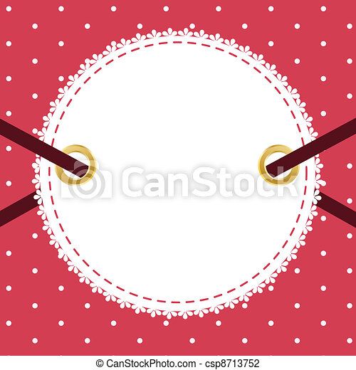 Greeting scrap retro background with empty photo blank. vector illustration - csp8713752
