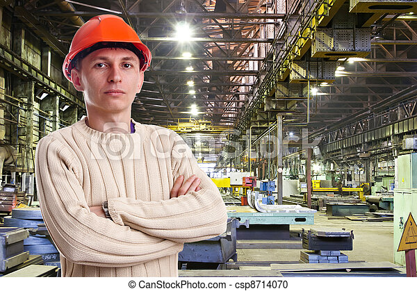 Foreman in the workshop of machinery plant - csp8714070