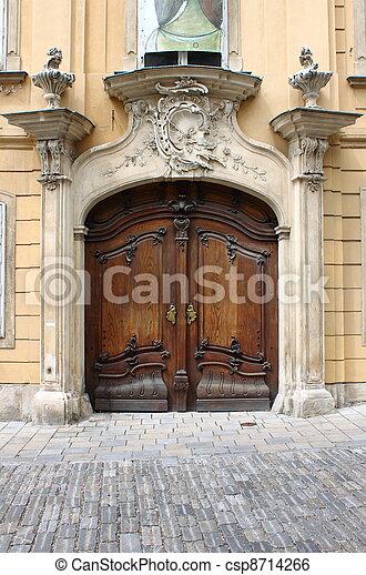 Renaissance front door - csp8714266
