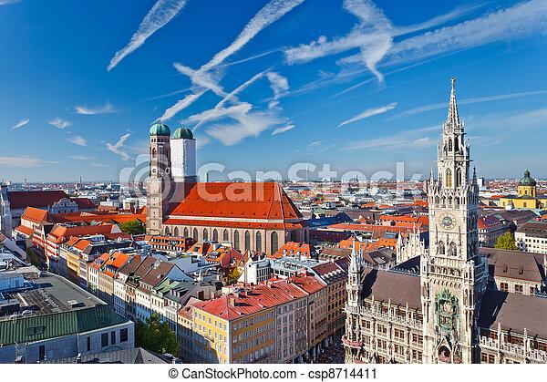 Aerial view of Munchen - csp8714411