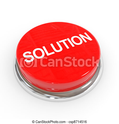 Red solution button. - csp8714516