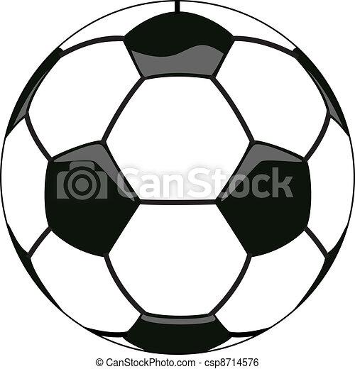 vector soccer ball clipart - csp8714576