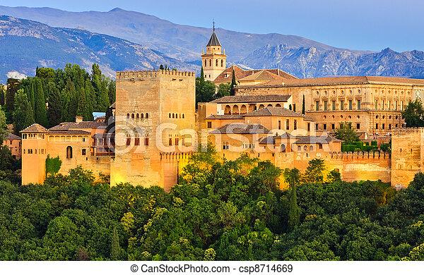 Alhambra palace, Granada, Spain - csp8714669
