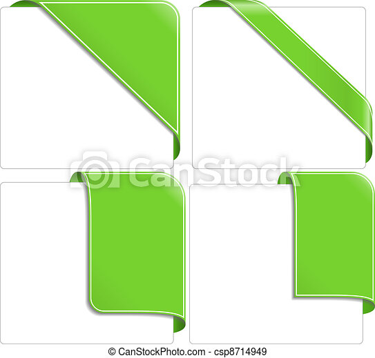 Green corner ribbons - csp8714949