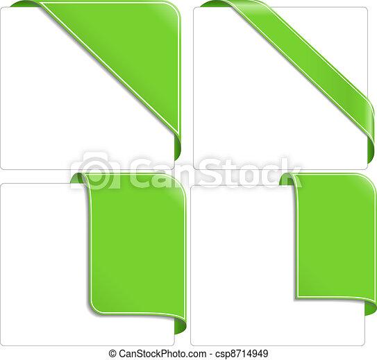 Green corner ribbons - csp8714949