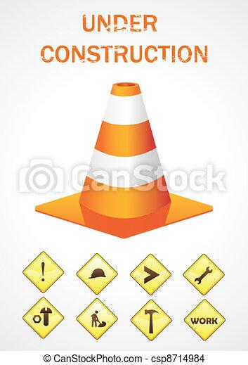Vector sign under construction - csp8714984
