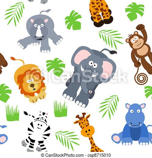 Seamless Safari Background - csp8715010