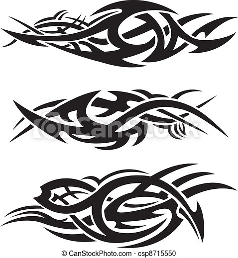 Abstract tribal flames - csp8715550
