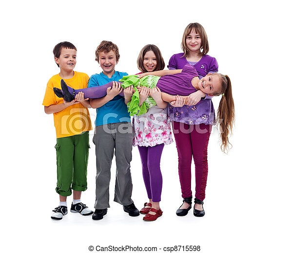 Kids having fun - isolated - csp8715598