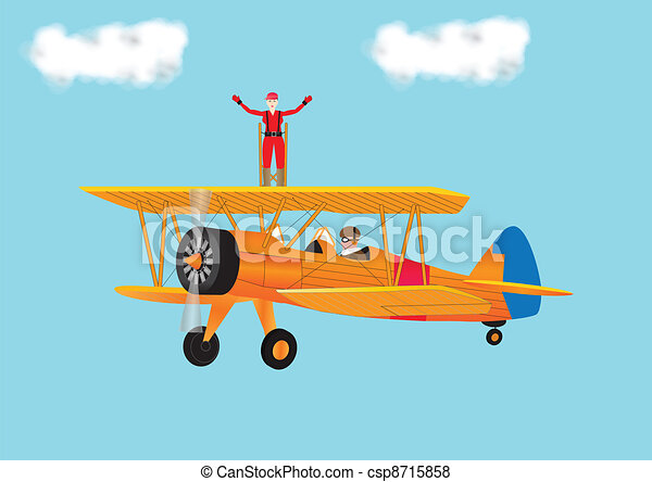 Woman Wing Walking - csp8715858