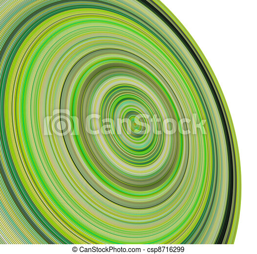 3d render concentric pipes in multiple green colors - csp8716299