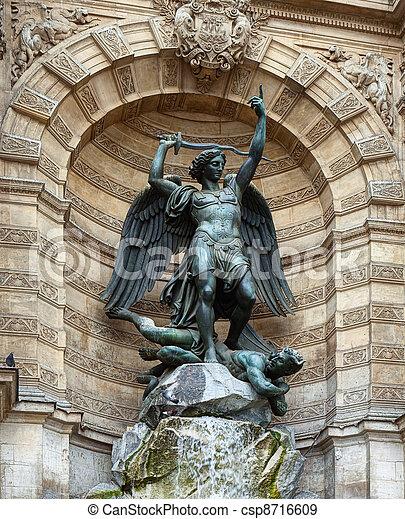 Fountain in Paris - csp8716609
