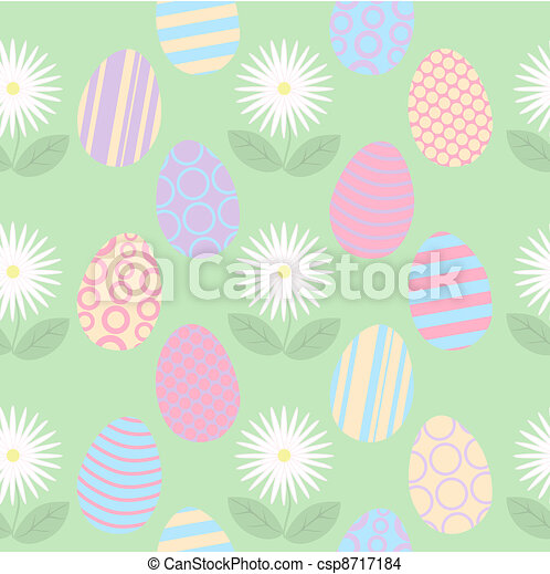 Seamless Easter Background - csp8717184