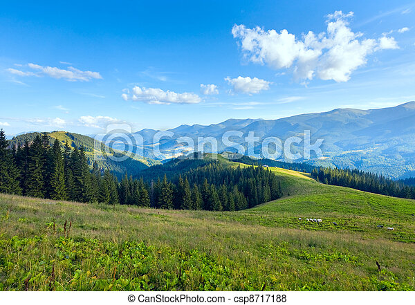 Summer mountain plateau landscape - csp8717188