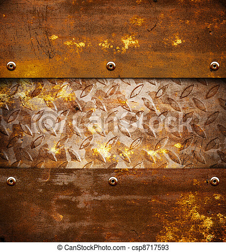 Rusty metal background - csp8717593