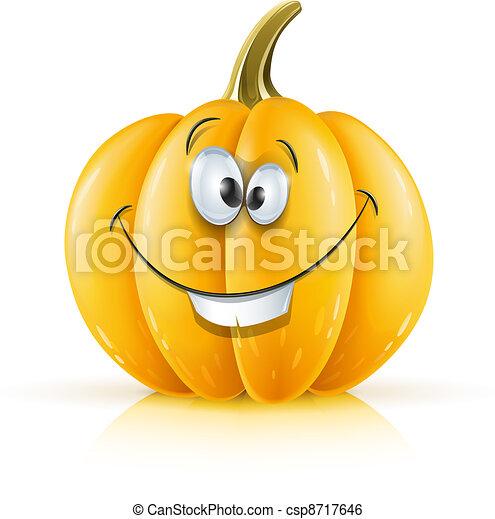 smiling ripe orange pumpkin - csp8717646