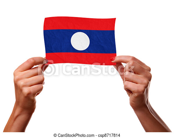 The Laotian flag - csp8717814