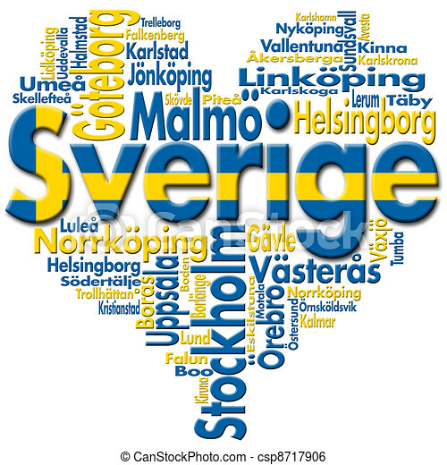 I Love Sverige (Sweden) - csp8717906