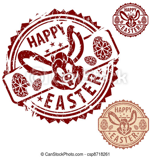 Easter Stamps - csp8718261