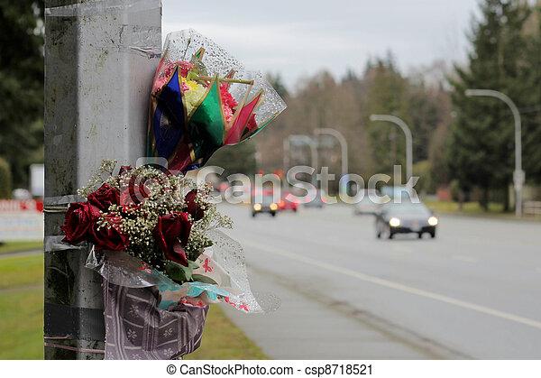 Roadside Memorial - csp8718521