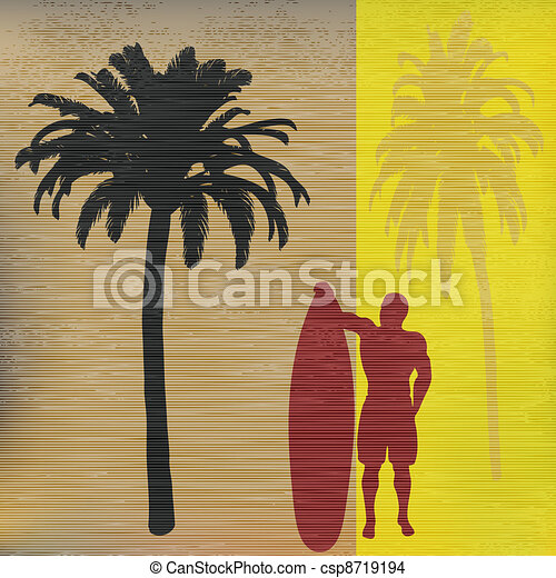 Tropical Surfer - csp8719194