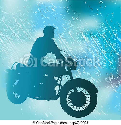 Motorcyclist Background - csp8719204