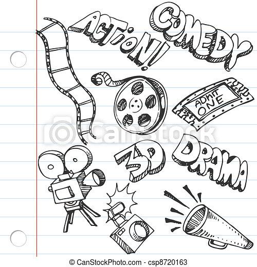 Notebook Paper Entertainment Doodles - csp8720163