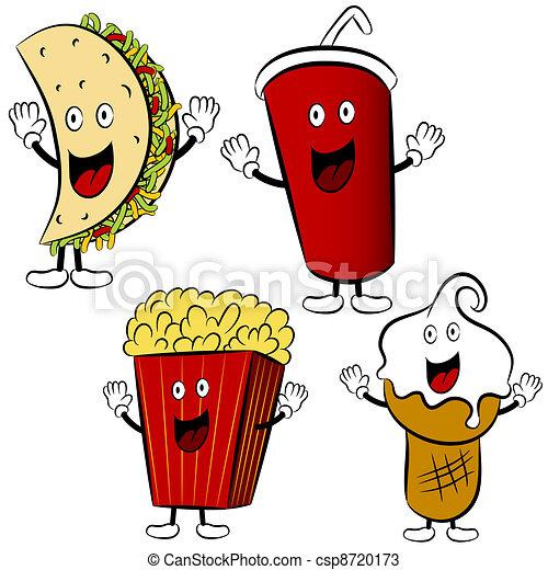 Funny Fast Food Cartoons Fast Food Treat Cartoon