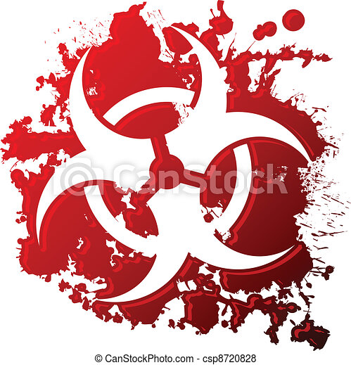 Bio hazard blood - csp8720828