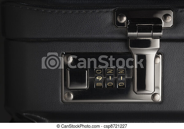 Briefcase Abstract with 911 on Lock - csp8721227