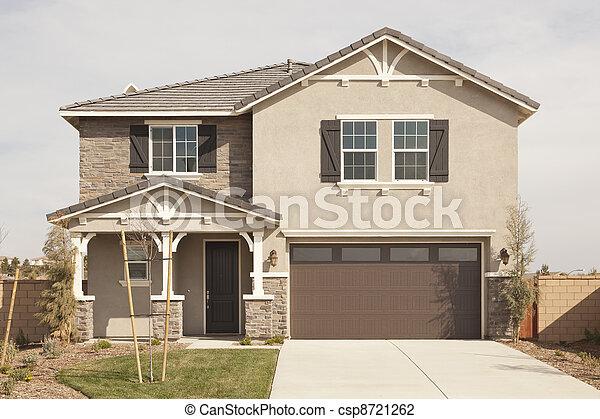 Newly Constructed Modern Home Facade - csp8721262