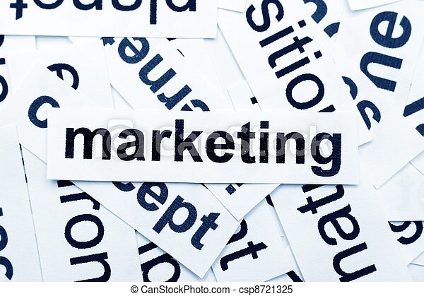 marketing, palavra, nuvem - csp8721325