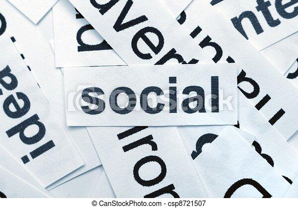 Social word cloud - csp8721507