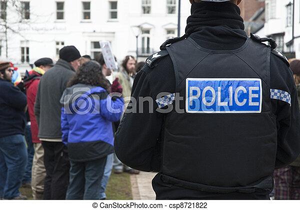y,  corwall, policía,  achievments,  activists, relojes, salida, su, ocupar,  Devon, verde, ellos, Durante, acontecimiento, celebrar,  exeter - csp8721822