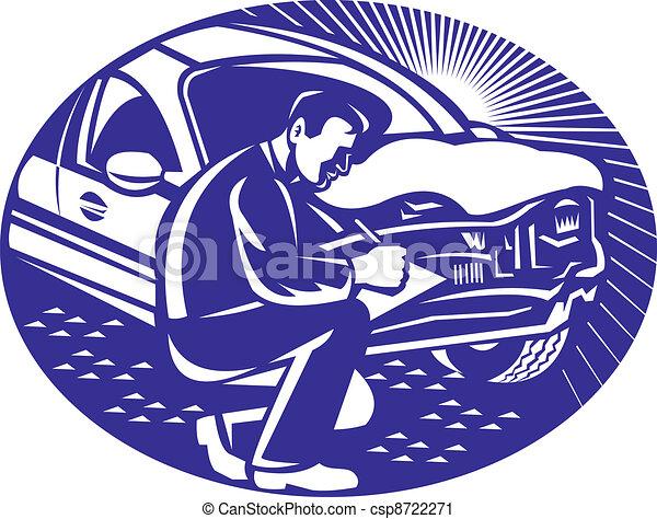 Auto Insurance Adjuster Car Collisi - csp8722271