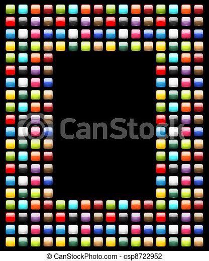 Art frame decorated from glossy buttons - csp8722952