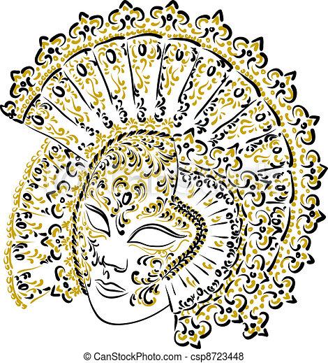 Venetian carnival mask. - csp8723448