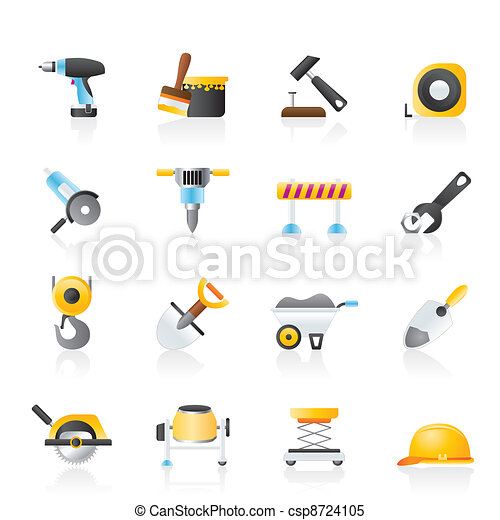 building and construction icons - csp8724105